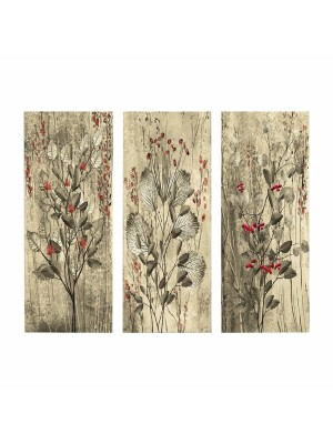 Картина принт  3 елемента RED FLOWERS AND BERRIES HM7204.01