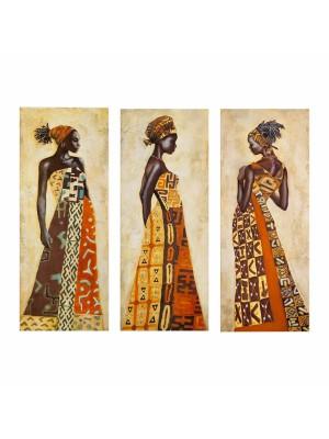 Картина от 3 елемента африканска жена HM7204.03