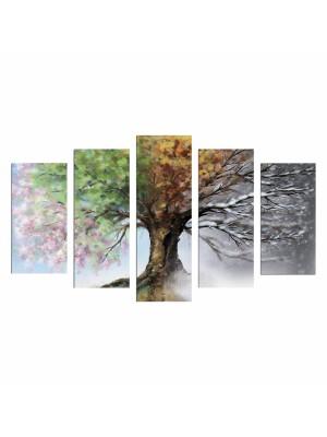 Картина пано от 5 елемента четири сезона HM7206.05