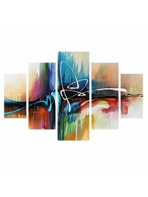 Картина пано от 5 елемента абстрактни цветове и форми HM7207.02
