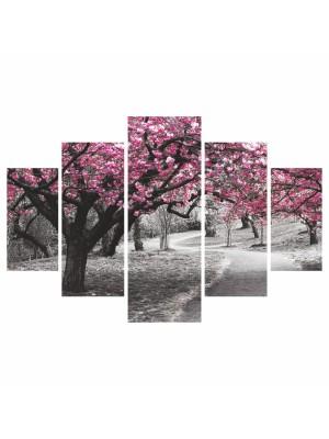 Картина пано от 5 елемента BLOOMING TREE HM7207.04