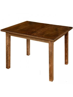 Table solid oak and mdf top walnut color 120x80