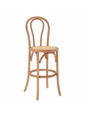 Дъвен буков бар стол с текстилна седалка HM8749.01