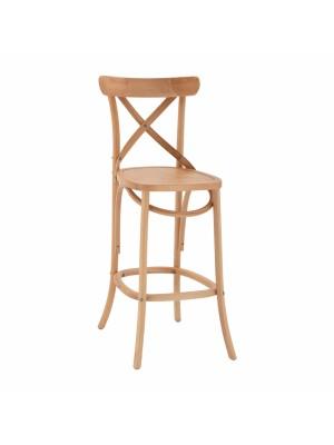 Дъвен буков бар стол в естествен цвят HM8750.01