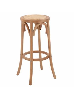 Дъвен буков бар стол в тъмно меден цвят HM8751.05