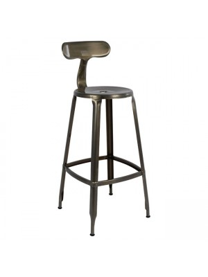 Bar Stool Metallic with back HM0181.03 Natural color