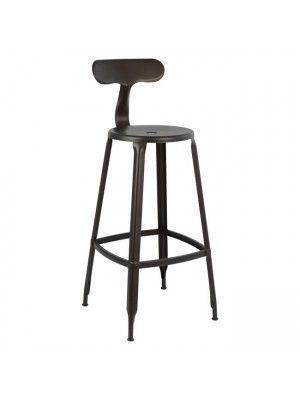 Bar Stool Metallic with back HM0181.04 Rusty color