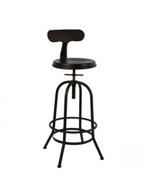 Bar Stool Metallic with screw HM0183.04 Rusty color