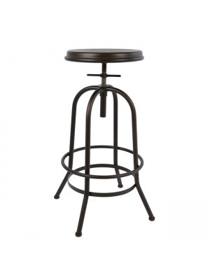 Bar Stool Metallic with screw without back HM0184.04 rusty color