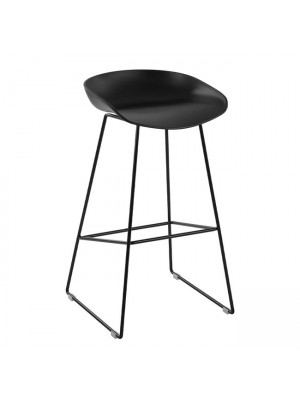Stool Metallic HM8450.02 with seat PP Black