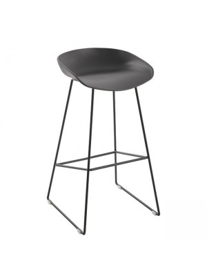 Metallic Stool HM8450.10 with grey seat PP