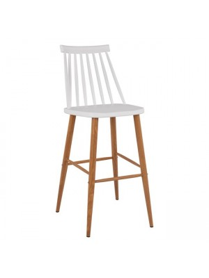Bar Stool HM8459.01 Vanessa in white color