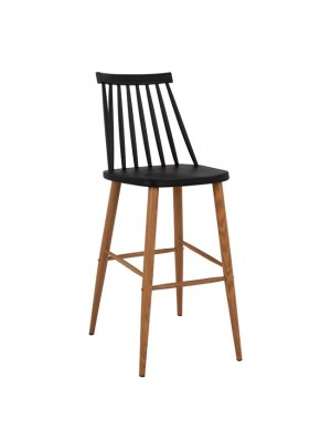 Bar Stool HM8459.02 Vanessa in black color