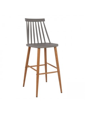 Bar Stool HM8459.10 Vanessa in grey color