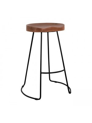Bar Stool HM8487 from solid acacia wood