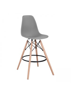 Bar Stool Renata HM0173.10 Grey 58x56x107cm