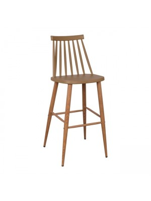 Bar Stool HM8459.25 Vanessa in Cappuccino color 43x49x107cm