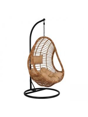 Стол люлка от ракита Nest бежов с възглавници с регулируема височина на седалката HM5541.01