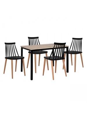 Комплект маса с 4 стола Vanessa HM11002.02