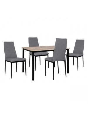 Комплект маса с 4 стола Lady цвят сонома HM11009