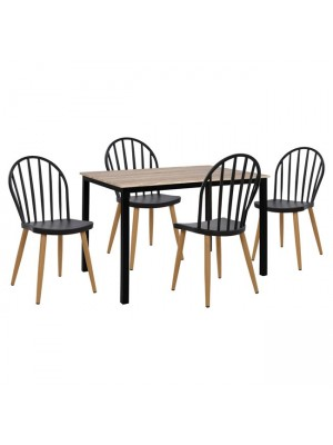 Комплект маса с 4 стола цвят сонома HM11010