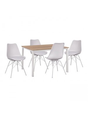 Комплект маса с 4 стола цвят сонома HM11013