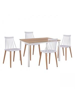 Комплект маса с 4 стола Vansessa HM11002.01