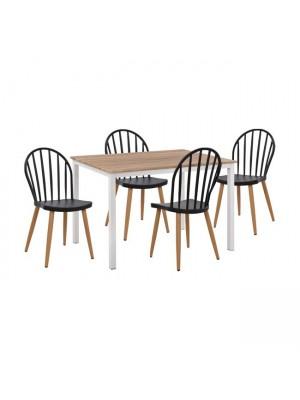 Комплект маса с 4 стола цвят сонома HM11016