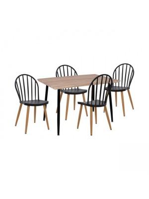 Комплект маса с 4 стола цвят сонома HM11025.02
