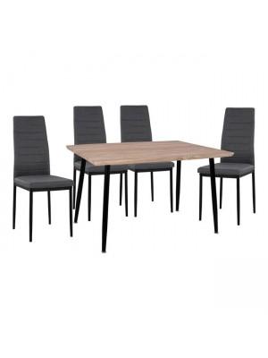 Комплект маса с 4 стола Lady Grey HM11027.10