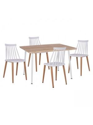 Комплект маса с 4 стола Vanessa HM11024.01