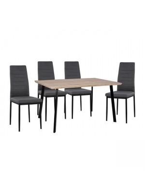 Комплект маса с 4 стола цвят сонома HM11040