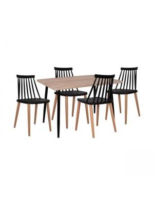 Комплект маса с 4 стола Vanessa цвят сонома HM11024.02