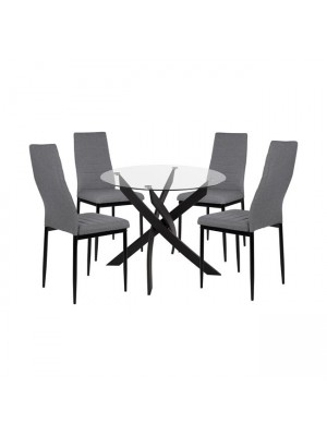 Комплект маса с 4 стола HM11071