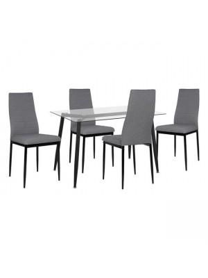 Комплект маса с 4 стола Lady Grey HM11076