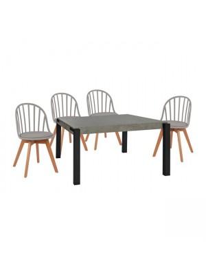 Комплект маса с 4 стола Alina плот MDF HM11173