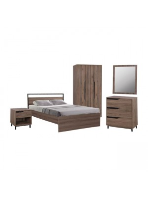 Set Bedroom Bennett HM11193 5pieces in Natural color
