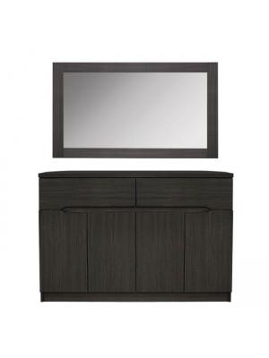 Шкаф с огледало Zebrano HM10190.01 120x40x80