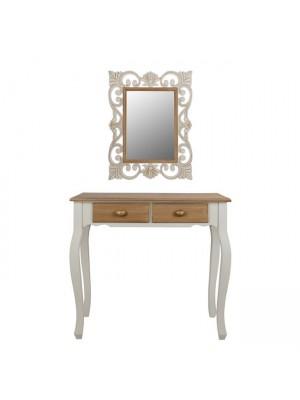 Конзола Melody с огледало Firenze in cream/brown patina HM10163