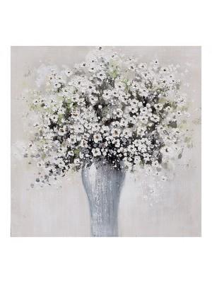 Картина натюрморт бели цветчета 80x80x2.8cm