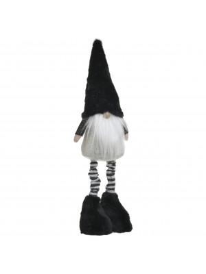 Текстилен Дядо Коледа в черно и бяло