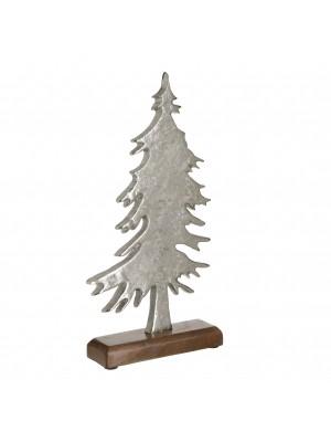Метална елхичка с дървена стойка