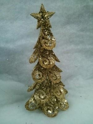 Декорация златна Коледна елха