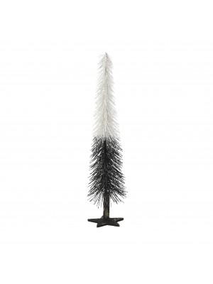 Метална елхичка в черно и бяло
