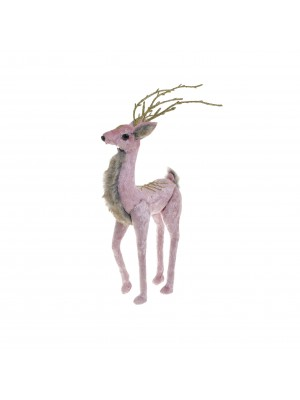 Коледна фигура розов елен