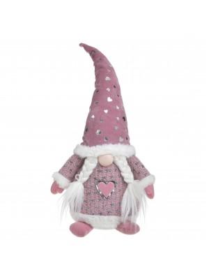 Розов текстилен Дядо Коледа