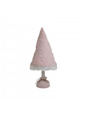 Розова текстилна елхичка с led