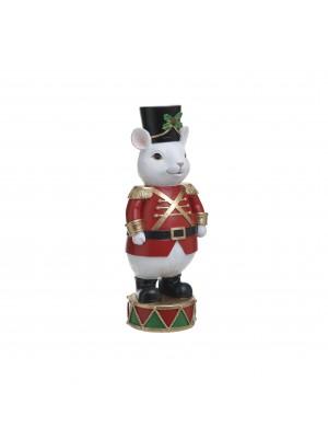 Коледна фигурка мишка от полирезин