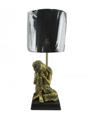 Настолна лампа от полирезин Буда