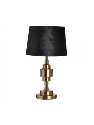 Настолна лампа метална с черна шапка